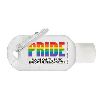 Pride 1.8 Oz. Hand Sanitizer With Carabiner Clip - Personalization Available