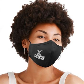 3-Ply 100% Cotton Comfort Face Mask With Adjustable Ear Loops & Nose Bridge - Washable & Reusable