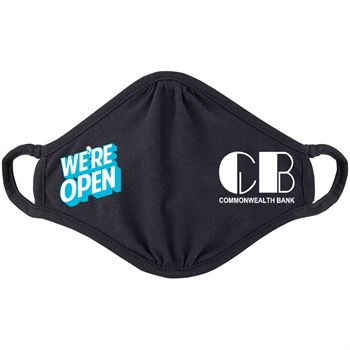 We're Open 2-Ply 100% Cotton Mask - Personalization Available