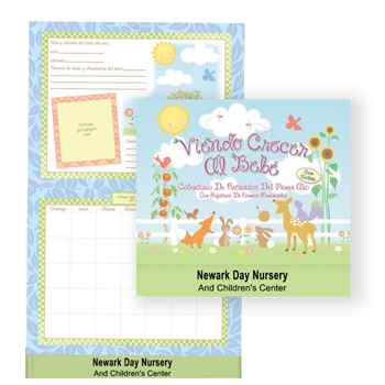 Watching Baby Grow: First Year Keepsake Spanish Language Calendar With Milestone Stickers & Pocket - Personalization Available