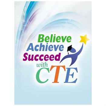 Believe Achieve Succeed With CTE Full-Color Folder