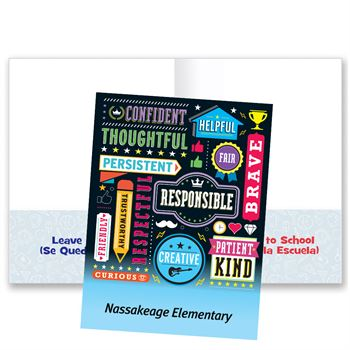 Word Cloud School-To-Home Student Folder - Personalization Available