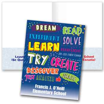 Dream, Read... School-To-Home Student Folder - Personalization Available