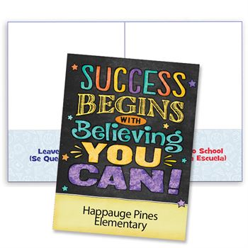 Success Begins With Believing You Can! Student Folder - Personalization Available
