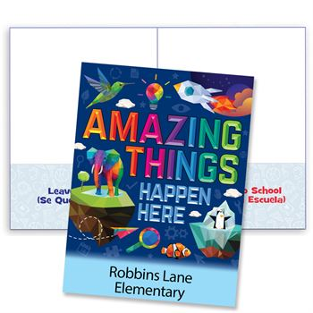 Amazing Things Happen Here Student Folder - Personalization Available