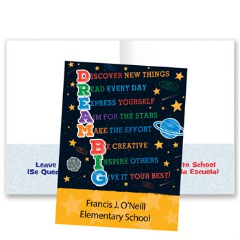 Dream Big�School-To-Home Student Folder - Personalization Available