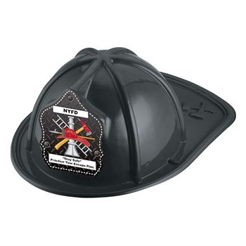 Firefighter Hat (Black) With Personalization