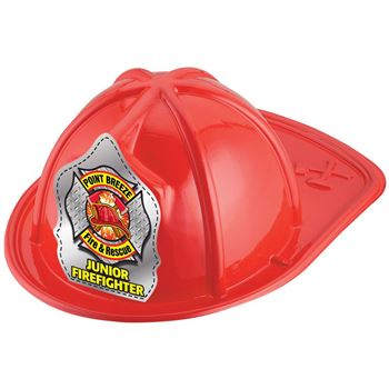 Red Junior Firefighter Hat (Helmet & Axes) With Personalization