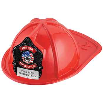 Junior Firefighter Patriotic Design Hat (Red) With Personalization
