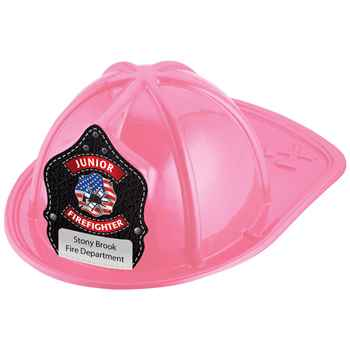 Junior Firefighter Patriotic Design Hat (Pink) With Personalization