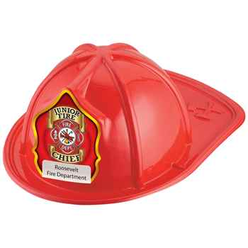 Junior Fire Chief Firefighter Hat (Red) With Personalization