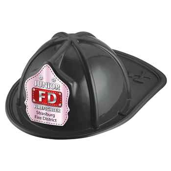 Junior FD Firefighter Hat (Black) With Personalization
