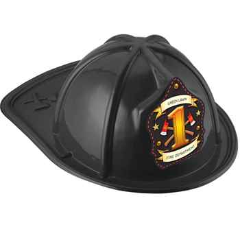 Black #1 Junior Firefighter Fire Hat With Personalization