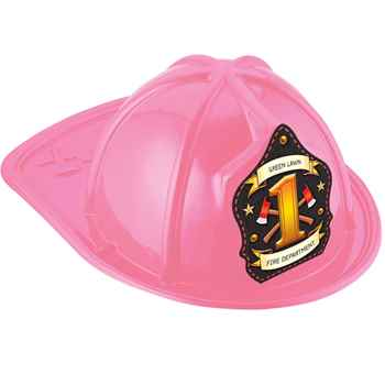 Pink #1 Junior Firefighter Fire Hat With Personalization