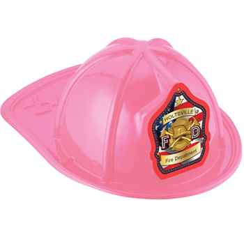 Pink Junior Fire Chief Hat On American Flag With Personalization