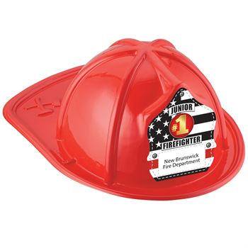 Red Junior Firefighter Hat With #1 Firefighter With Personalization