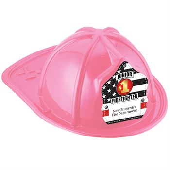 Pink Junior Firefighter Hat With #1 Firefighter With Personalization