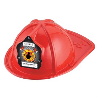 Red Junior Firefighter Hats With Fireman & Axe Design - Personalization Available