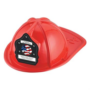 Red Junior Firefighter Hat With Flag Design With Personalization