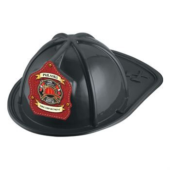 Black Junior Firefighter Hat Fire Safety Starts With Me - Personalization Available