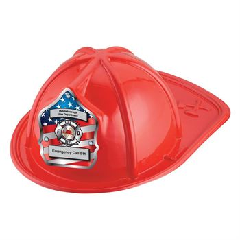 Patriotic Junior Firefighter Hats (Red) With Personalization