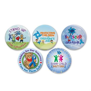 Child Abuse Prevention 50-Button Assortment Pack C