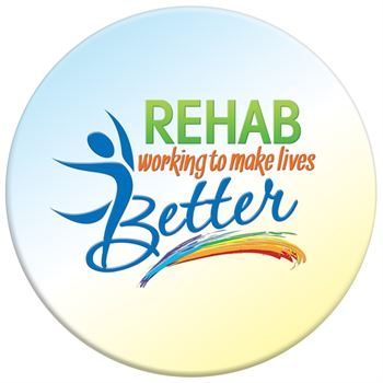 Rehab: Working Together To Make Lives Better Button