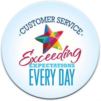Customer Service: Exceeding Expectations Every Day Buttons
