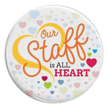 Our Staff Is All Heart Buttons
