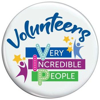 Volunteers: Very Incredible People Buttons