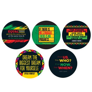 Black History Quote Button 50-Piece Assortment Pack