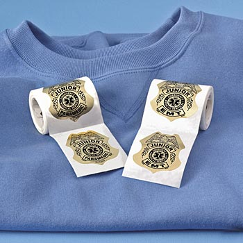 Junior Paramedic Gold-Foil Stickers-On-A-Roll