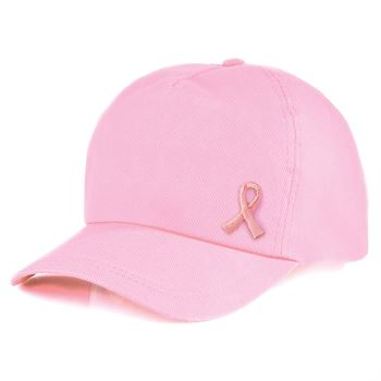 Embroidered Pink Ribbon Roll Appliques