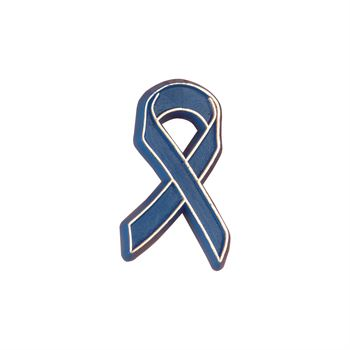 Plastic Blue Ribbon Lapel Pin 50-Piece Pack