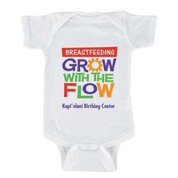 Breastfeeding: Grow With The Flow (With Your Facility's Name) 1-Piece Bodysuit For Newborn