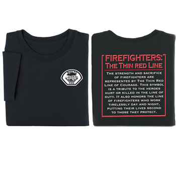 Firefighters: The Thin Red Line Short Sleeve Adult T-Shirt - Personalization Available