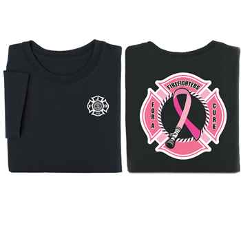 Firefighters For A Cure Short Sleeve T-Shirt - Personalized