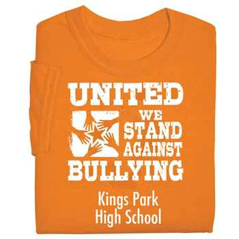 United We Stand Against Bullying Adult Positive T-Shirt - Personalized