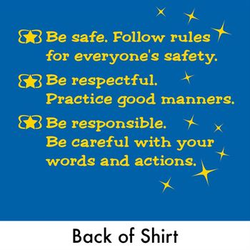 Safe, Respectful, Responsible, Ready To Learn Youth 2-Sided T-Shirt (Personalized)
