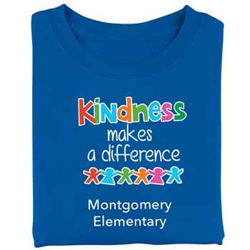 Kindness Makes A Difference Adult T-Shirt - Personalized
