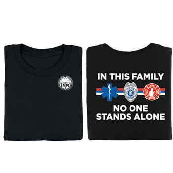 In This Family No One Stands Alone 2-Sided T-Shirt - Personalized