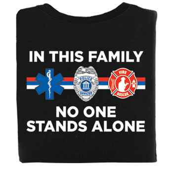 In This Family No One Stands Alone T-Shirt With Personalization
