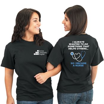 I Always Wanted To Do Something That Helps Others...2-Sided T-Shirt - Personalization Available