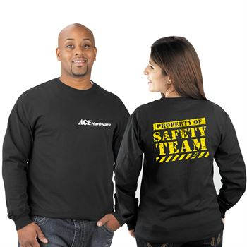 Property Of Safety Team 2-Sided Long-Sleeve T-Shirt - Personalized