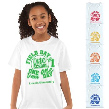 Field Day 2017 Youth 100% Cotton White T-Shirt - Personalization Available