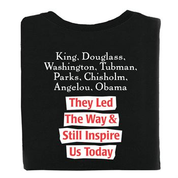 They Led The Way & Still Inspire Us Today 2-Sided Adult T-Shirt - Personalized
