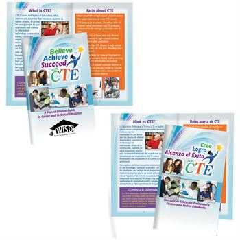 Believe Achieve Succeed With CTE Bilingual Handbook - Personalization Available