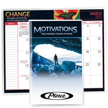 Motivations 2022 Deluxe Monthly Pocket Planner - Personalization Available