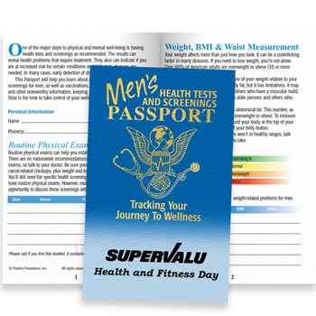 Men's Health Tests And Screenings Passport (With Sleeve) - Personalization Available