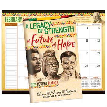 A Legacy of Strength, A Future of Hope 2021 Monthly Planner